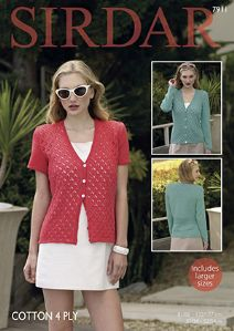 05377a65e551f Sirdar Cotton 4ply Design Leaflets The Sirdar design studio have created a  collection of designs for women that includes both knit and crochet  designs
